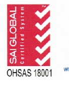 Certification of Occupational, Health and Safety Management System-OHSAS 18001:2007 (SAI Global)