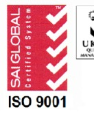 Certification of Quality Management System-ISO 9001:2015 (SAI Global)