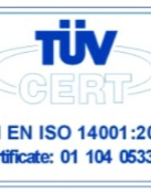Certification of Environmental ManagementSystem-ISO 14001:2015 (TUV)