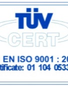 Certification of Quality Management System- ISO 9001:2015  (TUV Rheinland)