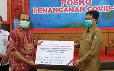 ANTAM and The West Kalimantan SOEs Covid-19 Handling Group Distributes Medical Equipment