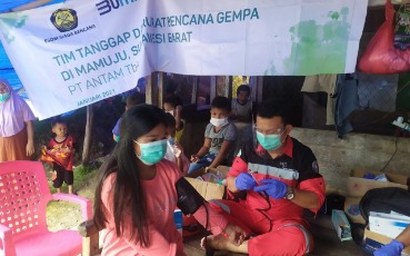 ANTAM Handles Disaster Impacts in Various Regions in Indonesia