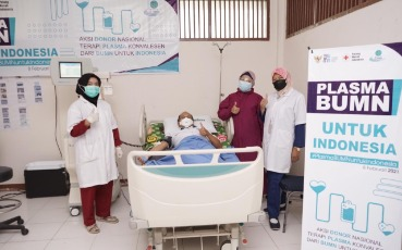 ANTAM and West Kalimantan SOE Task Force Participate in  The Convalescent Plasma Donor National Movement