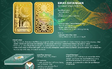 ANTAM Launches Thematic Gold Bar Edition Eid Al-Fitr 1442 H